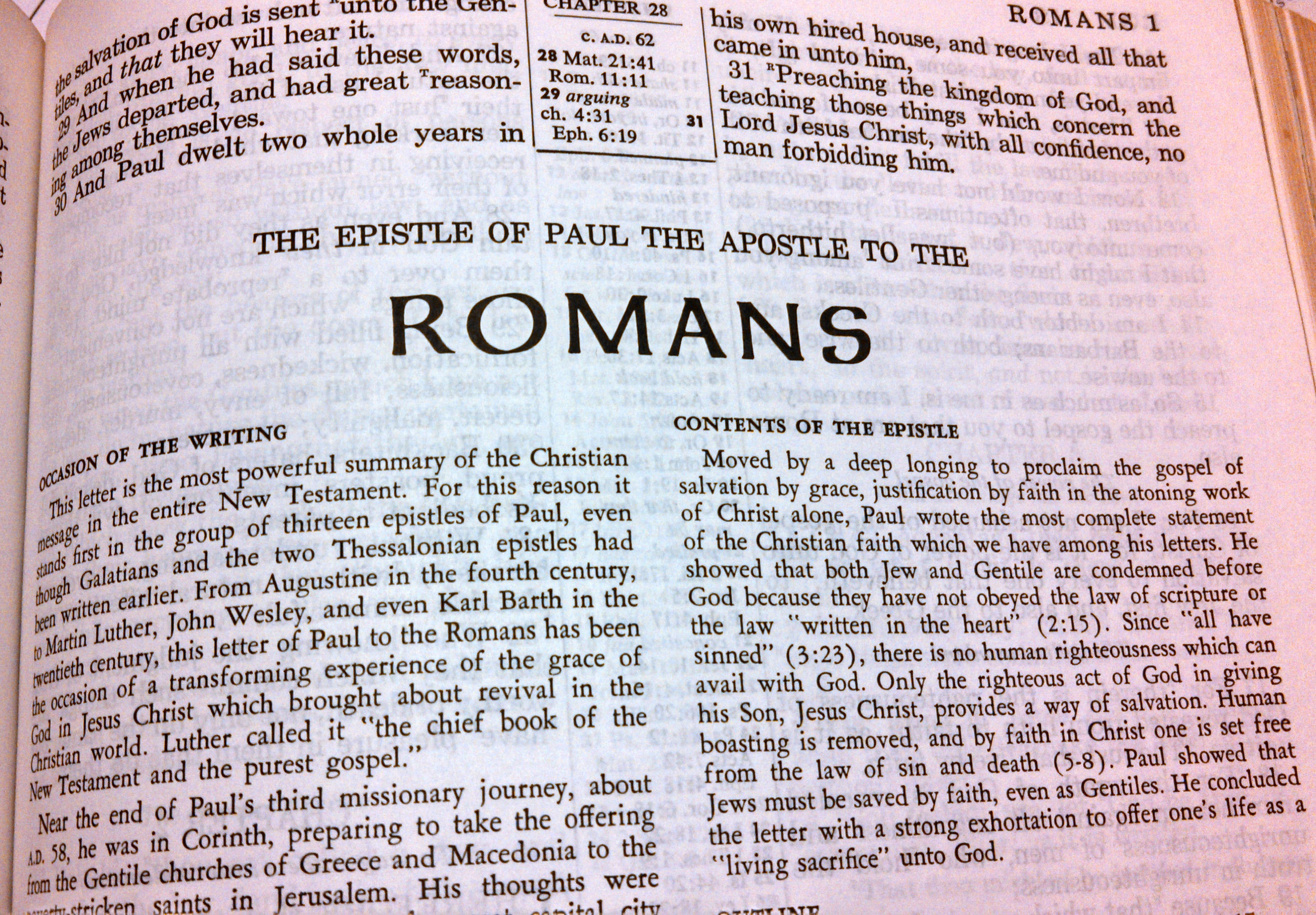 a history and analysis of pauls letter to romans Paul's use of habakkuk 2:4 in romans 1:17 paul's letter to the romans, in the blackwell companion to the new testament then, an analysis of the text shows the structure as hinging upon vv15-1818 there are four sections in the chapter.